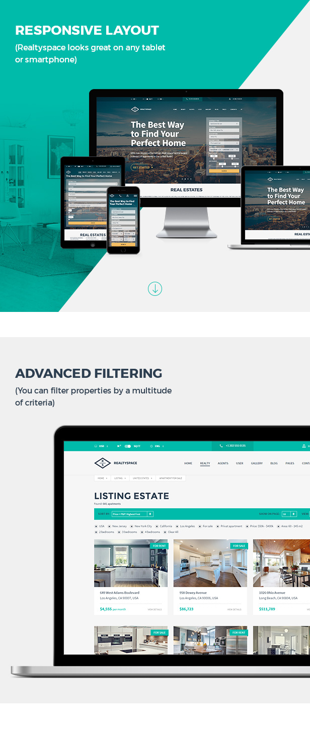 Realtyspace v2.1.2 - Real Estate HTML5 Template + Dashboard Included - 10