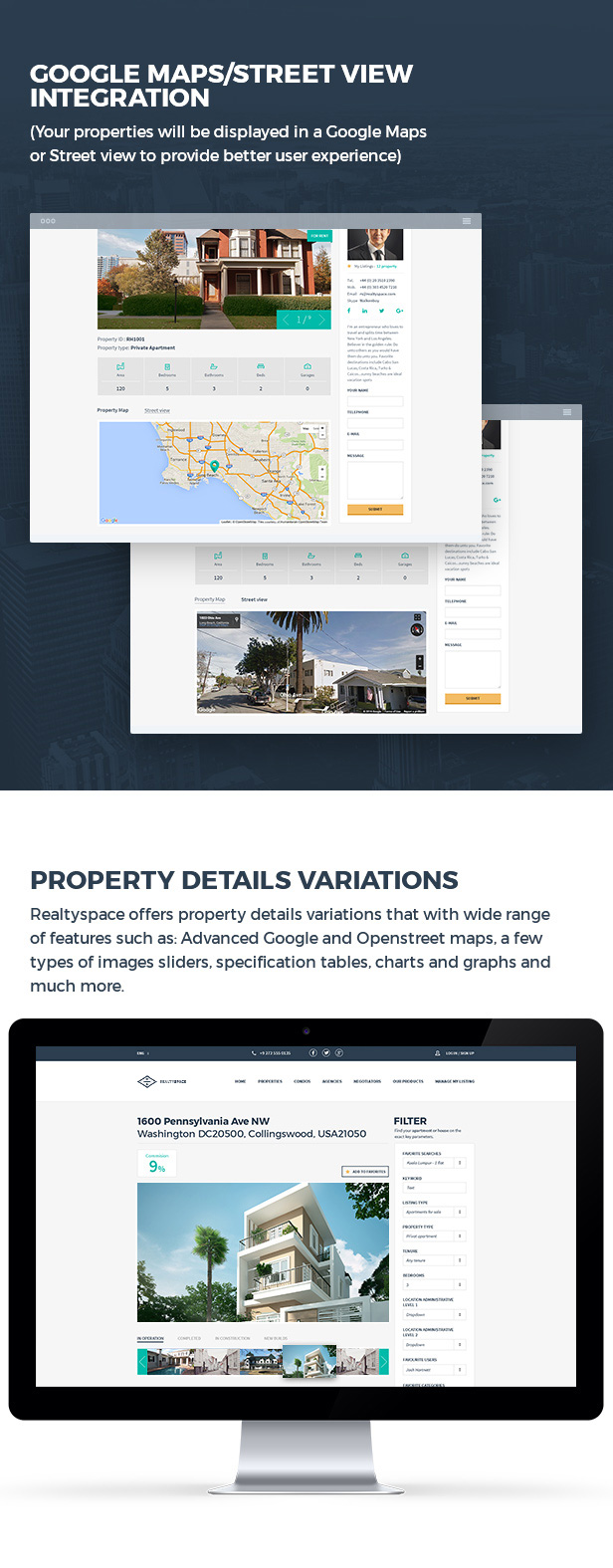 Realtyspace v2.1.2 - Real Estate HTML5 Template + Dashboard Included - 11